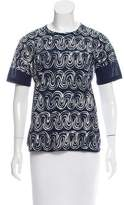 Jil Sander Printed Short-Sleeve Top
