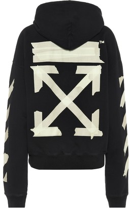 Off-White Off White Logo cotton-jersey hoodie
