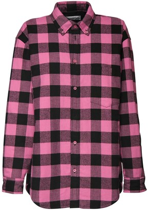Balenciaga Oversize Check Cotton Shirt