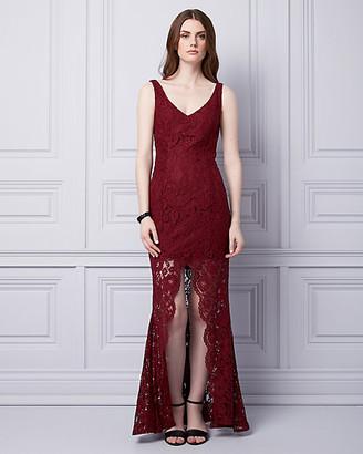 Le Château Corded Lace V-Neck Gown
