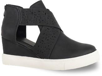 Yoki Crisscross Women's Side Cut Out Wedge Sneakers