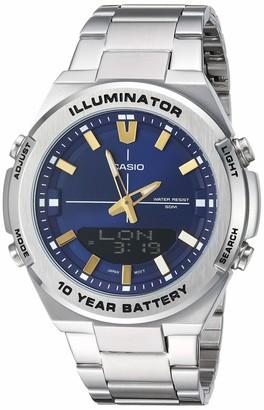 Casio Men's Illuminator Quartz Watch with Stainless-Steel Strap