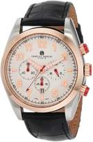 Rosegold Charles Hubert Charles-Hubert, Paris Men's 3895-RG Premium Collection Rose-Gold Bezel Stainless Steel Chronograph Watch