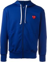 Comme des Garcons embroidered logo hoodie - men - Polyester - L