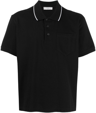 Givenchy Contrasting Collar Polo Shirt