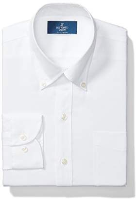 Buttoned Down Slim Fit Solid Pocket Options Dress Shirt, White)