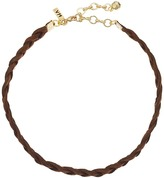 Vanessa Mooney Braided Suede Choker Necklace Necklace