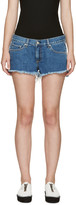 Rag & Bone Blue Cut-off Denim Shorts