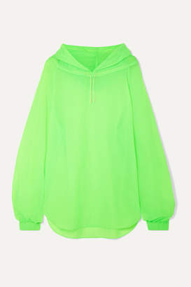 REJINA PYO Erica Neon Shell Hoodie - Lime green
