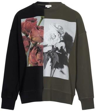 Alexander McQueen Hybrid round neck sweatshirt