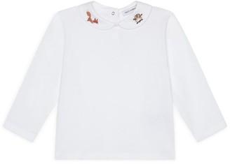 Dolce & Gabbana Kids Cotton Embroidered-Collar Top (3-30 Months)