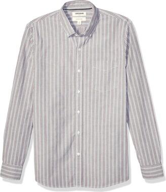 Goodthreads Slim-fit Long-sleeve Fashion Stripe Oxford Shirt Button