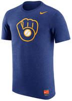 Nike Men's Milwaukee Brewers Coop Tri-Blend T-Shirt Glove