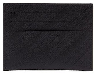 Givenchy Logo And Chain-debossed Leather Cardholder - Black