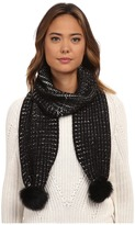UGG Reversible Cardy Scarf w/ Fur Poms