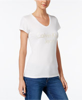 Calvin Klein Jeans Logo V-Neck Graphic T-Shirt