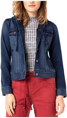 Liverpool Self Hooded Jean Jacket (Sanders) Women's Clothing
