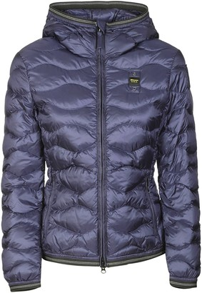 Blauer Quilted Zipped Hooded Jacket