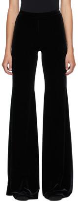Vetements Black Rhinestone Flared Lounge Pants