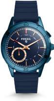 Fossil Hybrid Smartwatch - Q Modern Pursuit Navy Blue Silicone