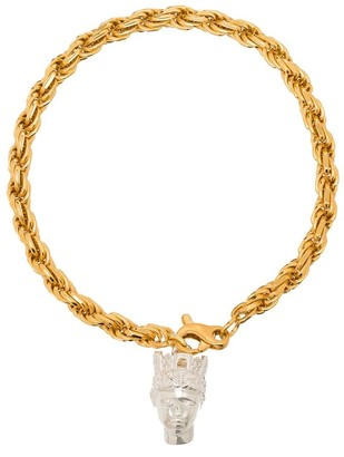 Hermina Athens gold-plated Tyche chain bracelet