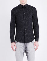 Diesel S-Ruiz matchstick-print slim-fit stretch-cotton shirt