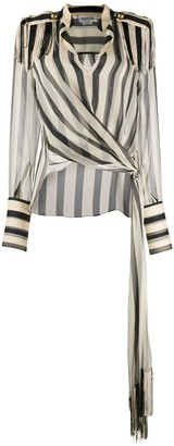 Monse striped Regalia scarf blouse