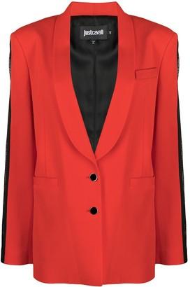 Just Cavalli Single-Breasted Tuxedo Blazer