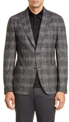 Ermenegildo Zegna Slim Fit Plaid Wool Blend Sport Coat