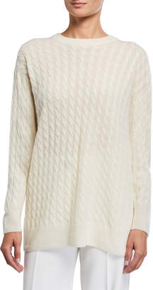 The Row Minorj Cashmere-Silk Cable Knit Sweater