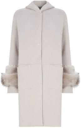 D-Exterior D.Exterior Reversible Fur-Lined Coat