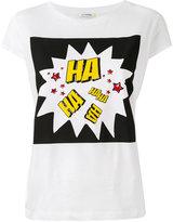 Iceberg Haha print T-shirt - women - Cotton/Spandex/Elastane - 38