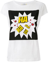 Iceberg Haha print T-shirt - women - Cotton/Spandex/Elastane - 44