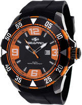 Seapro Diver Mens Orange and Black Silicone Strap Watch