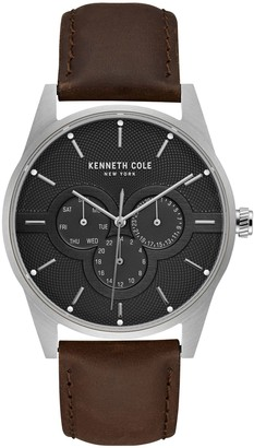 Kenneth Cole New York Dress Sport Stainless Steel & Leather-Strap Watch