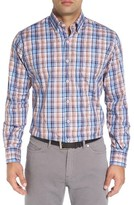 Peter Millar Men's Big & Tall Farmington Regular Fit Plaid Sport Shirt