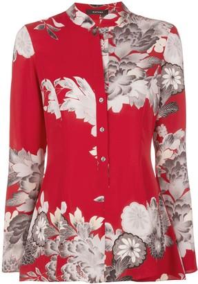 Natori floral print blouse