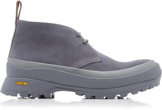Jil Sander Platform High-Top Leather Ankle Boots