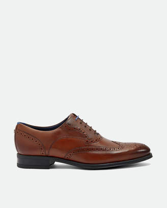Ted Baker MITACK Leather wingcap brogues