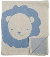 Barneys New York Lion Blanket-BLUE