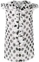Dolce & Gabbana ruffled polka dot blouse