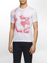 Calvin Klein Platinum Slim Fit Pixelated Abstract Monkey Print T-Shirt