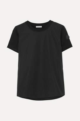 Noir Kei Ninomiya Moncler Genius - 6 Perforated Poplin And Cotton-jersey T-shirt - Black