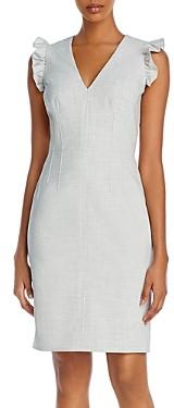 Rebecca Taylor Tailored Flutter-Sleeve Dress