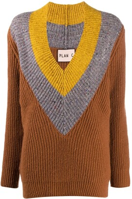 Plan C Colour Block Jumper