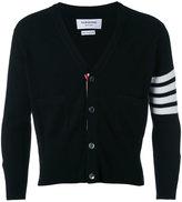 Thom Browne four stripe sleeve cardigan - men - Cashmere - II