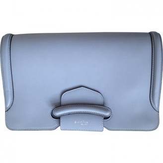 Alexander McQueen Heroine Chain Blue Leather Clutch bags