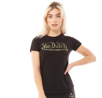 Von Dutch Womens V-Aspen T-Shirt Black/Camo