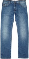 Armani Jeans J45 Light Blue Slim-leg Jeans