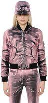 Moschino Shadow Print Gabardine Bomber Jacket